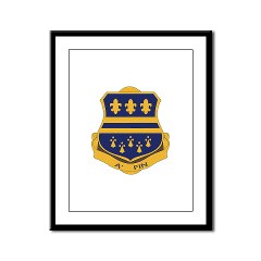 1B335I - M01 - 02 - DUI - 1st Battalion - 335th Infantry Framed Panel Print