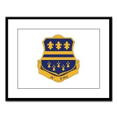 1B335I - M01 - 02 - DUI - 1st Battalion - 335th Infantry Large Framed Print