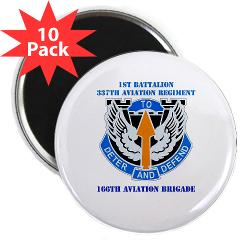 "1B337AR - M01 - 01 - DUI - 1st Bn - 337th Aviation Regiment with Text 2.25"" Magnet (10 pack)"