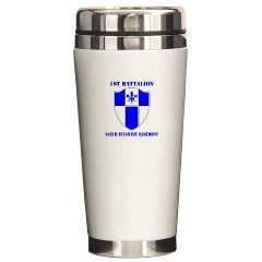 1B345IR - M01 - 03 - DUI - 1st Battalion - 345th Infantry Regiment with text Ceramic Travel Mug
