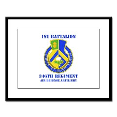 1B346ADA - M01 - 02 - DUI - 1st Bn - 346th ADA with Text - Large Framed Print