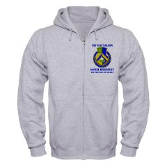1B346ADA - A01 - 03 - DUI - 1st Bn - 346th ADA with Text - Zip Hoodie