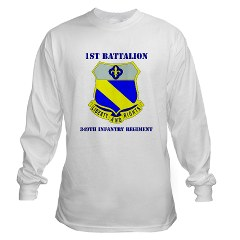 1B349R - A01 - 03 - DUI - 1st Battalion - 349th Regiment with Text Long Sleeve T-Shirt