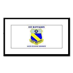 1B349R - M01 - 02 - DUI - 1st Battalion - 349th Regiment with Text Small Framed Print