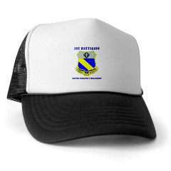1B349R - A01 - 02 - DUI - 1st Battalion - 349th Regiment with Text Trucker Hat