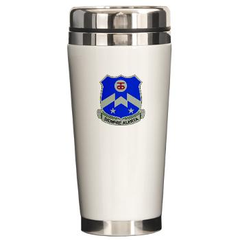 1B357IR - M01 - 03 - DUI - 1st Battalion - 357th Infantry Regiment - Ceramic Travel Mug