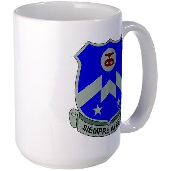 1B357IR - M01 - 03 - DUI - 1st Battalion - 357th Infantry Regiment - Large Mug