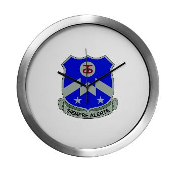 1B357IR - M01 - 03 - DUI - 1st Battalion - 357th Infantry Regiment - Modern Wall Clock