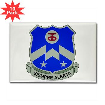 1B357IR - M01 - 01 - DUI - 1st Battalion - 357th Infantry Regiment - Rectangle Magnet (10 pack)