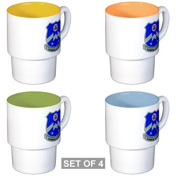1B357IR - M01 - 03 - DUI - 1st Battalion - 357th Infantry Regiment - Stackable Mug Set (4 mugs)
