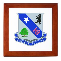 1B360R - M01 - 03 - DUI - 1st Bn - 360th Infantry Regt with Text - Keepsake Box