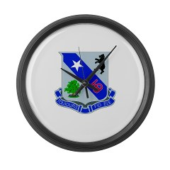 1B360R - M01 - 03 - DUI - 1st Bn - 360th Infantry Regt with Text - Large Wall Clock