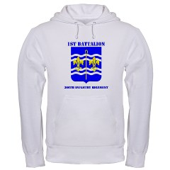 1B306R - A01 - 03 - DUI - 1st Bn - 360th Regt with Text Hooded Sweatshirt