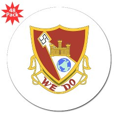 "1B361R - M01 - 01 - DUI - 1st Bn - 361st Engineer Regt 3"" Lapel Sticker (48 pk)"