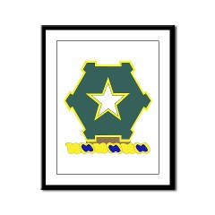 1B36IR - M01 - 02 - DUI - 1st Battalion - 36th Infantry Regiment Framed Panel Print