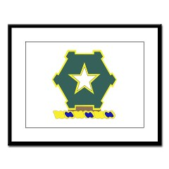 1B36IR - M01 - 02 - DUI - 1st Battalion - 36th Infantry Regiment Large Framed Print