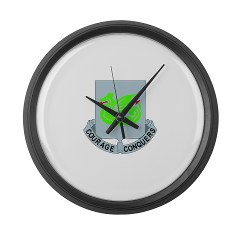 1B37AR - M01 - 03 - DUI - 1st Battalion - 37th Armor Regiment Large Wall Clock