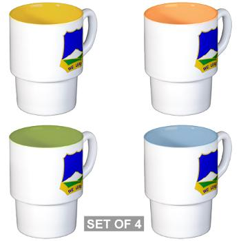 1B382RLSB - M01 - 03 - DUI - 1st Battalion - 382nd Regiment (LSB) - Stackable Mug Set (4 mugs)
