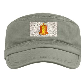 1B38FAR - A01 - 01 - 1st Battalion, 38th Field Artillery with Text Military Cap