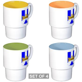 1B393RI - M01 - 03 - DUI - 1st Battalion - 393rd Infantry Regiment - Stackable Mug Set (4 mugs)