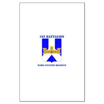 1B393RI - M01 - 02 - DUI - 1st Battalion - 393rd Infantry Regiment with Text - Large Poster