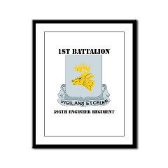 1B395RLS - M01 - 02 - DUI - 1st Bn - 395th Engineer Regt with Text - Framed Panel Print