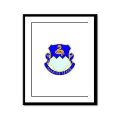 1B411R - M01 - 02 - DUI - 1st Battalion - 411th Regiment (LS) Framed Panel Print