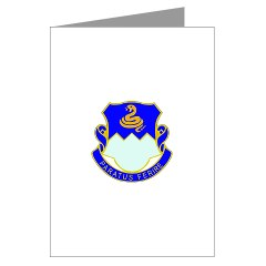 1B411R - M01 - 02 - DUI - 1st Battalion - 411th Regiment (LS) Greeting Cards (Pk of 10)