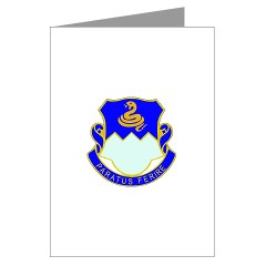 1B411R - M01 - 02 - DUI - 1st Battalion - 411th Regiment (LS) Greeting Cards (Pk of 20)