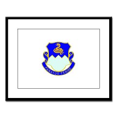 1B411R - M01 - 02 - DUI - 1st Battalion - 411th Regiment (LS) Large Framed Print