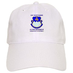 1B411R - A01 - 01 - DUI - 1st Battalion - 411th Regiment (LS) with Text Cap