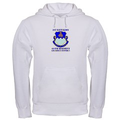 1B411R - A01 - 03 - DUI - 1st Battalion - 411th Regiment (LS) with Text Hooded Sweatshirt