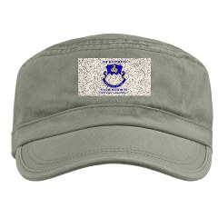 1B411R - A01 - 01 - DUI - 1st Battalion - 411th Regiment (LS) with Text Military Cap