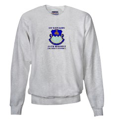 1B411R - A01 - 03 - DUI - 1st Battalion - 411th Regiment (LS) with Text Sweatshirt