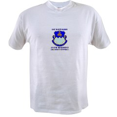 1B411R - A01 - 04 - DUI - 1st Battalion - 411th Regiment (LS) with Text Value T-Shirt