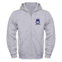 1B411R - A01 - 03 - DUI - 1st Battalion - 411th Regiment (LS) with Text Zip Hoodie