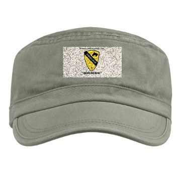 1BCTI - A01 - 01 - DUI - 1st Heavy BCT - Ironhorse with Text Military Cap