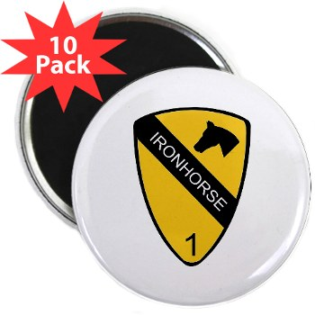 "1BCTI - M01 - 01 - DUI - 1st Heavy BCT - Ironhorse - 2.25"" Magnet (10 pack)"