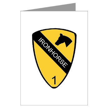 1BCTI - M01 - 02 - DUI - 1st Heavy BCT - Ironhorse - Greeting Cards (Pk of 10)