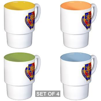 1BSTB - M01 - 03 - DUI - 1st Bde Special Troops Battalion Stackable Mug Set (4 mugs)
