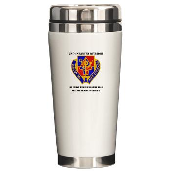 1BSTB - M01 - 03 - DUI - 1st Bde Special Troops Battalion with Text Ceramic Travel Mug