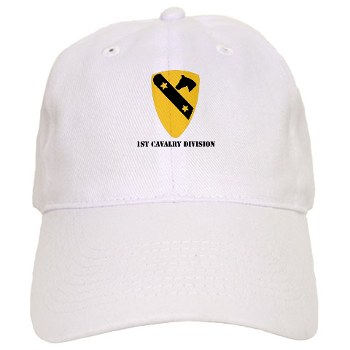 1CAV - A01 - 01 - DUI - 1st Cavalry Division with text Cap