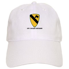 1CAV - A01 - 01 - SSI - 1st Cavalry Division with text Cap