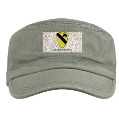 1CAV - A01 - 01 - SSI - 1st Cavalry Division with text Military Cap