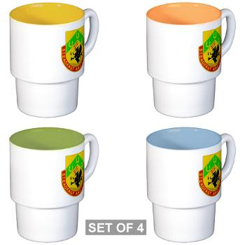 1CAV3BCTSTB - M01 - 03 - DUI - 3rd BCT - Special Troops Bn - Stackable Mug Set (4 mugs)