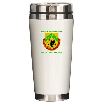 1CAV3BCTSTB - M01 - 03 - DUI - 3rd BCT - Special Troops Bn with Text - Ceramic Travel Mug