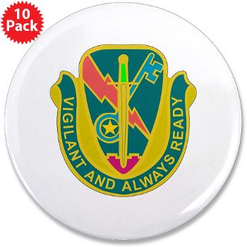 "1CAV4BCTSTB - M01 - 01 - DUI - 4th BCT - Special Troops Bn - 3.5"" Button (10 pack)"