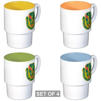 1CAV4BCTSTB - M01 - 03 - DUI - 4th BCT - Special Troops Bn - Stackable Mug Set (4 mugs)