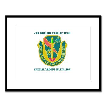 1CAV4BCTSTB - M01 - 02 - DUI - 4th BCT - Special Troops Bn with Text - Framed Panel Print