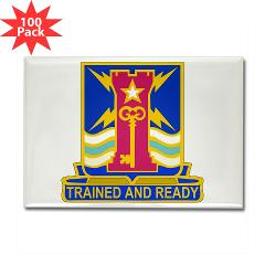 1ID4BCTSTB - M01 - 01 - DUI - 4th BCT - Special Troops Battalion - Rectangle Magnet (100 pack)
